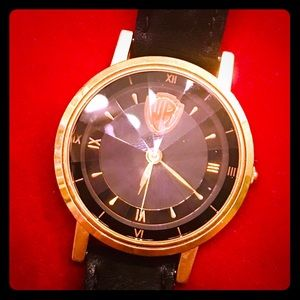 Warner Brothers Black and Gold Man's Watch